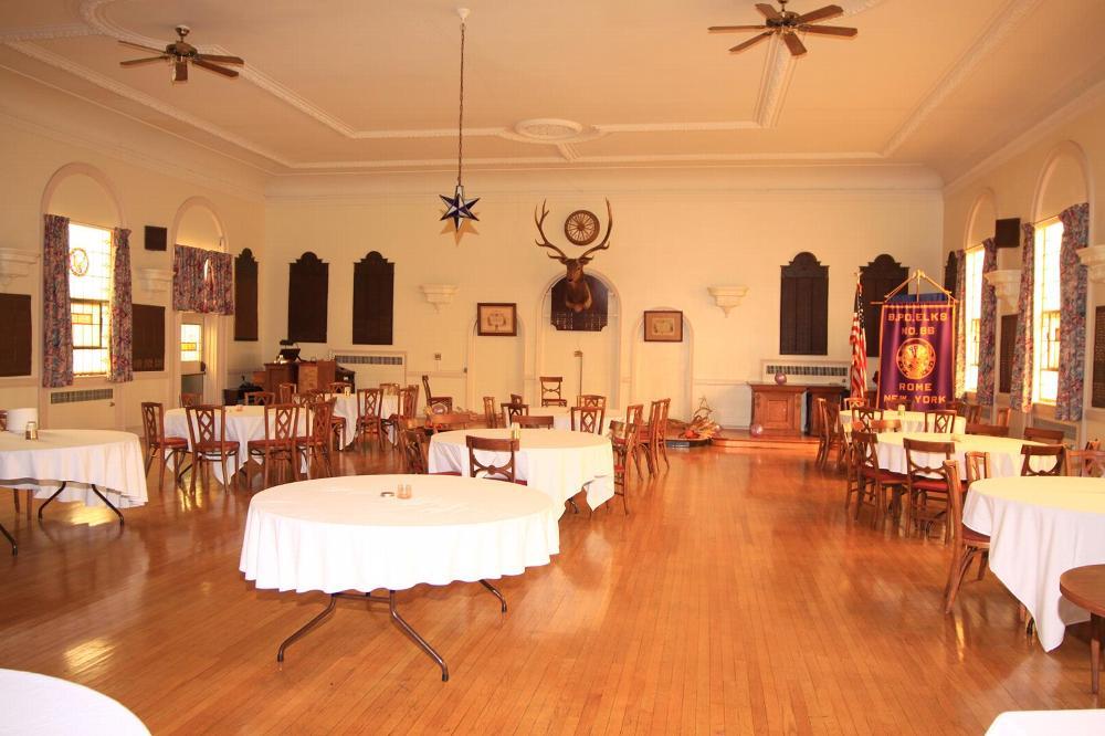 Lodge Room Set Up for Banquet