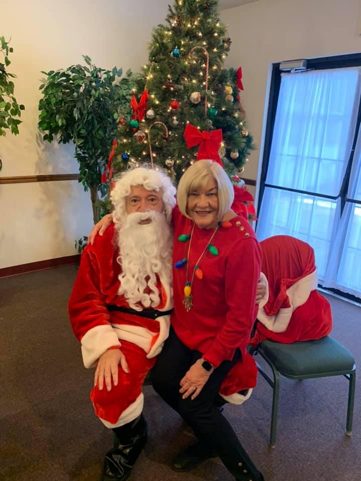 ER Gerry Conboy with Santa