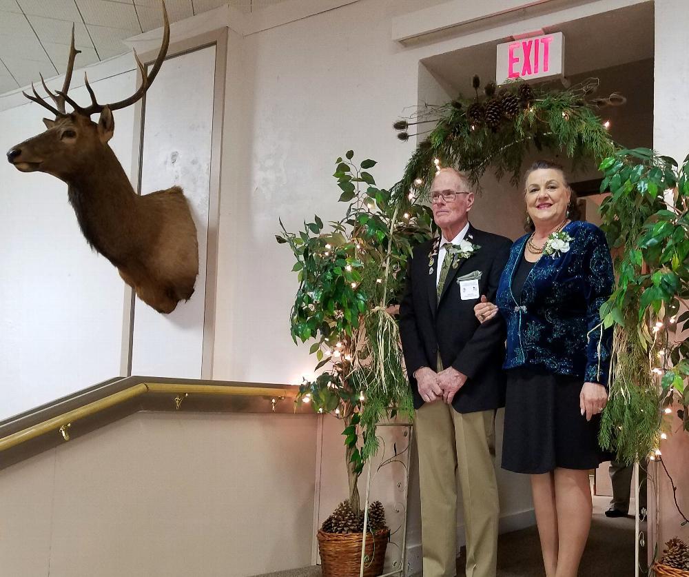 Trustee Chuck McCullum and wife Jhana