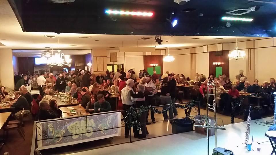 The dance floor saw lots of use at Deutschtown Mardi Gras 2015