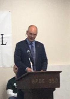 Ashland City Manager, Mike Graese, a veteran himself, was keynote speaker.