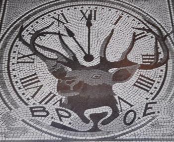 Mosaic inside entrance 1913.