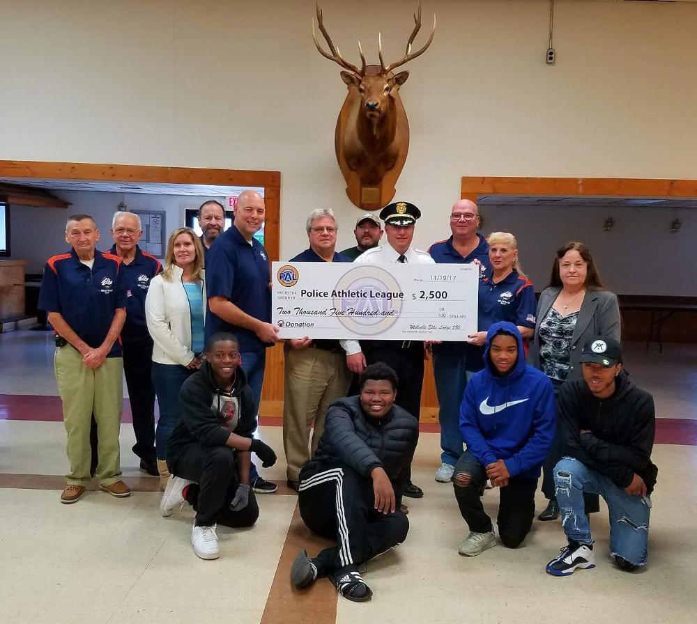 Millvile Donates $2500 to PAL