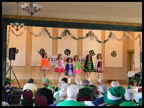 St. Patrick's Day dancers
