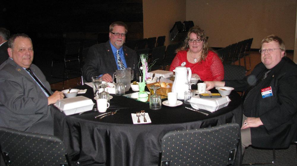 State President-Elect George Myers, State President Rob Radig Sr., First Lady Michelle Radig, Northwest VP Nate Levenhagen