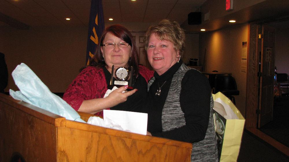 Patty Miller, Elk Lady of the Year with Elks Lady President Karen Bures