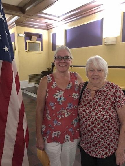New Elks member, Rhonda Bronakowski, with her mother Carol, a member of the Cohoes-Waterford Elks Lodge 1317