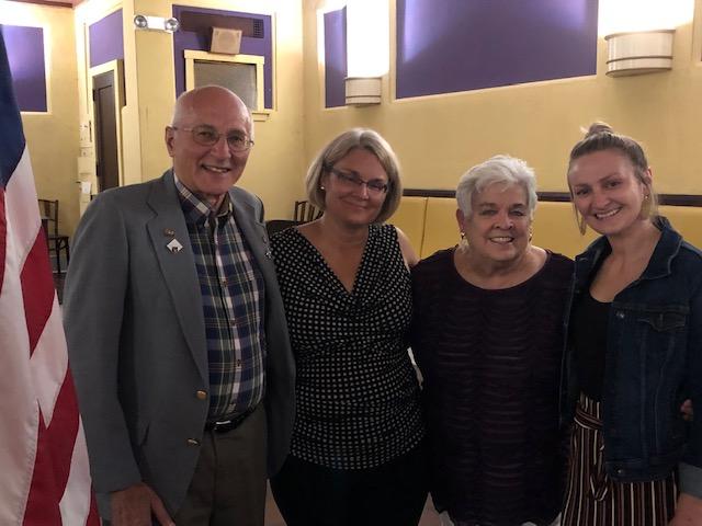 Three generations of Elks: Vern Singleton, his daughter and new Elks member Lori Jerauld, Lois Singleton and Megan Jerauld