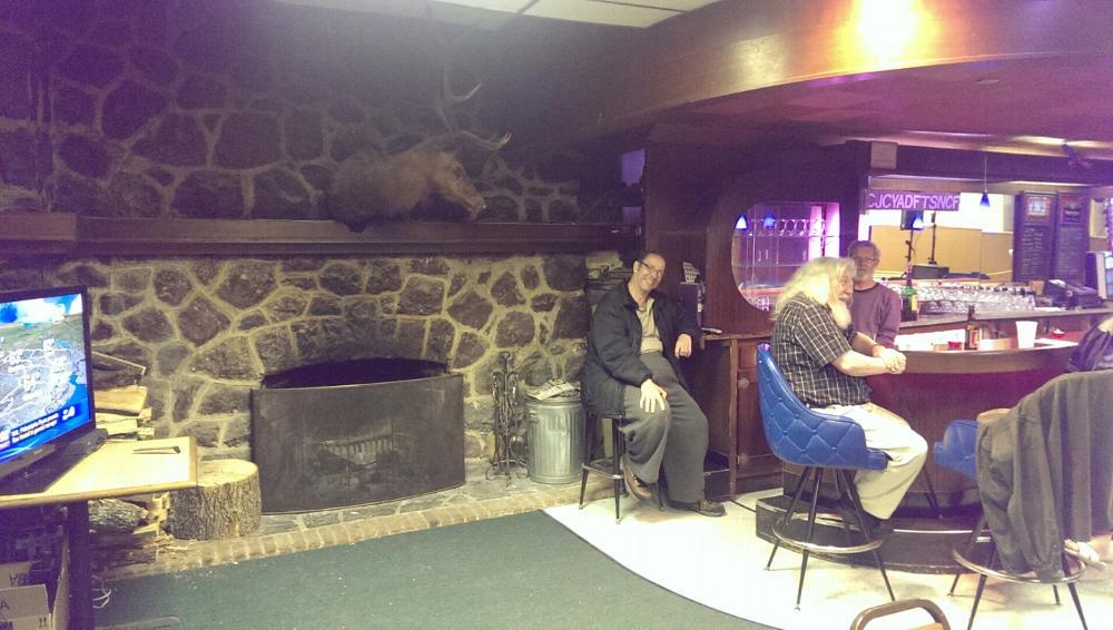 Members Lounge Fireplace Side