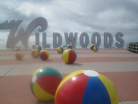 The beach balls of Wildwood