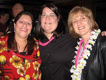Barbara, Allison & Donna at the Luau.