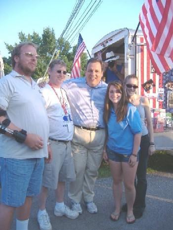 Member Rick Green, ER Tim Doyle, Chris Christie, Antler Stephanie Green at the Fair