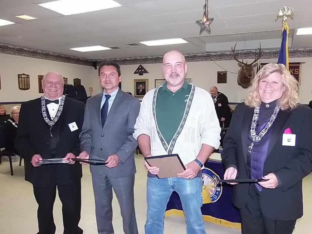 Jerry Hurley, Mike VanRoo, Bob Snover, Lori Ferguson - awarded for most new members sponsored
