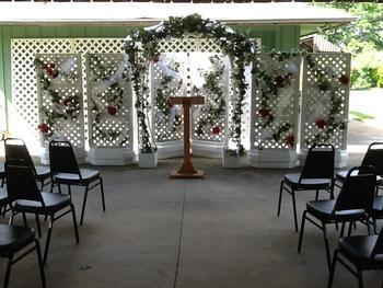 Wedding in outdoor Pavilion.