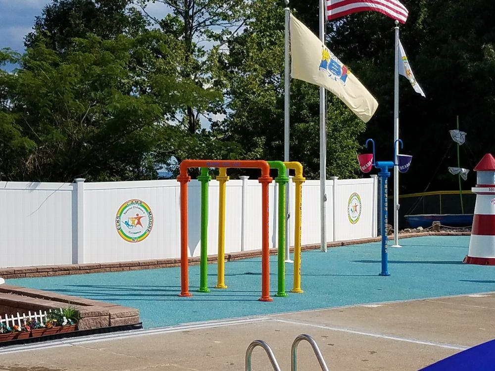 New Splashpark at Camp Moore